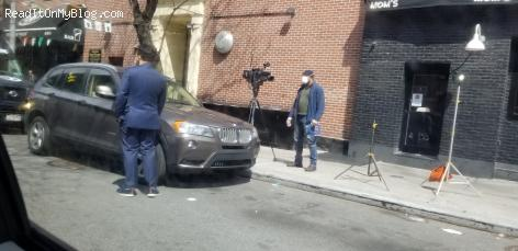NYC channel 7 Eyewitness News reporter spotted on West 48th street and 9th Avenue