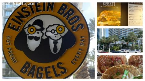 Einstein Bros Bagels, Collins Avenue in Sunny Isles Beach, nice place to grab your bagel sandwich and your morning cup of coffee