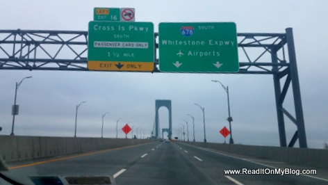 It is Rush Hour Monday on the Whitestone Bridge in New York and the road is empty, Coronavirus, everyone is at home