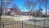 There are no children playing at this playground on Lincoln Avenue in New Rochelle New York