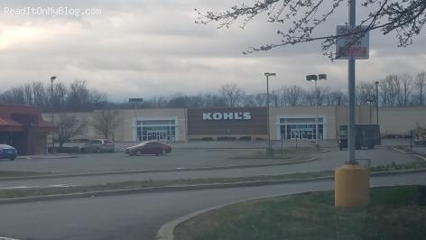 Look at this, the Kohl's department store parking lot is empty on a Tuesday afternoon